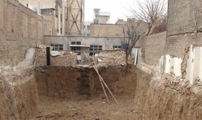 نحوه خاکبرداری و گود برداری در مجاورت ساختمانها