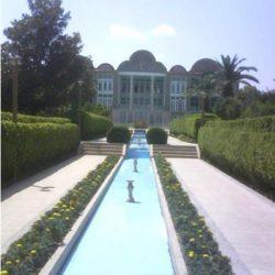 ساختار کالبدی باغ ارم شیراز