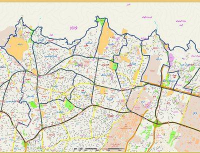 نقشه های محلات منطقه ۱ تهران