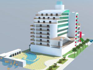 پروژه هتل پست مدرن