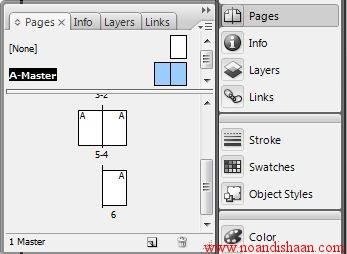 کار با master page در ایندیزاین