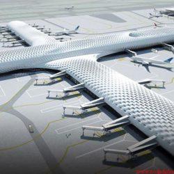 نقشه سازه و معماری فرودگاه