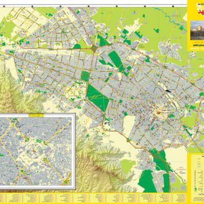 نقشه کد مشهد
