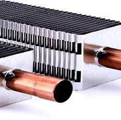 لوله¬هاي پره دار در یک سیستم گرمایش قرنیزی
