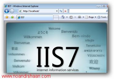 نصب IIS در ویندوز 7