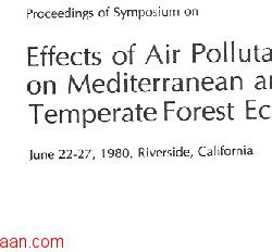 roceedings of Symposium on Effects of air pollutants on mediterranean forest ecosystems