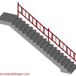 روش ترسیم مقطع راه پله های مختلف