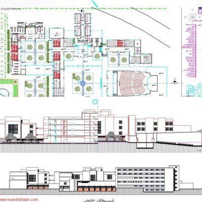 نقشه های اجرایی دانشکده هنر و معماری شیراز