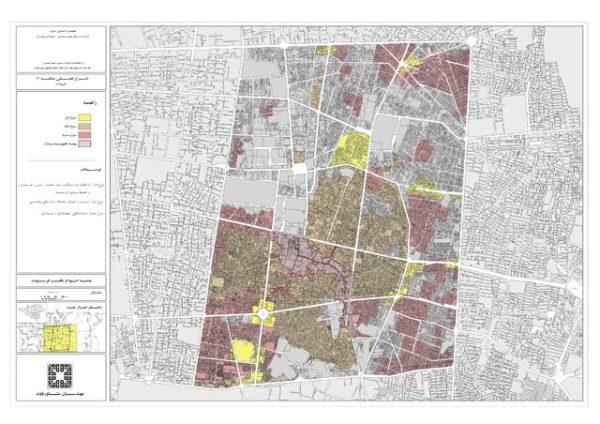 نقشه انواع بافت فرسوده منطقه 12