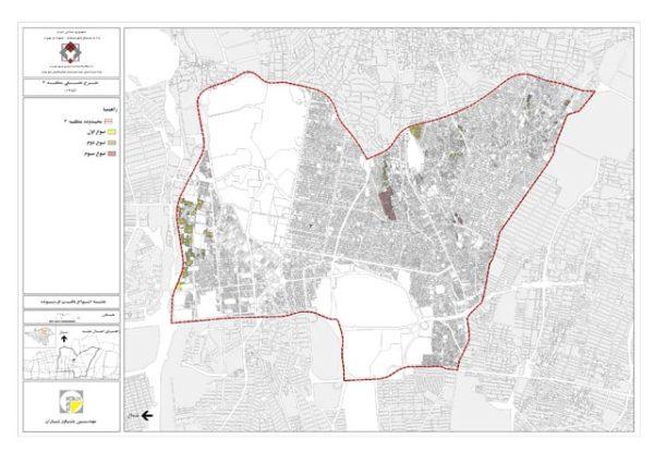 نقشه بافت فرسوده منطقه 3