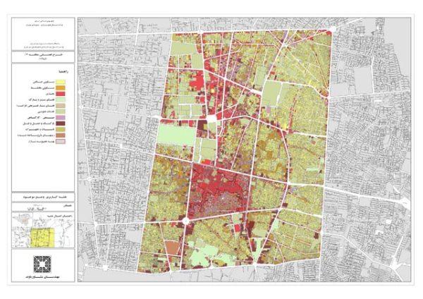 نقشه کاربری اراضی منطقه 12