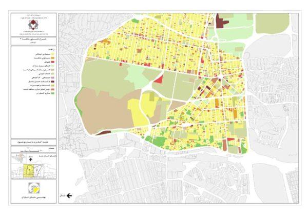 نقشه کاربری اراضی منطقه 3