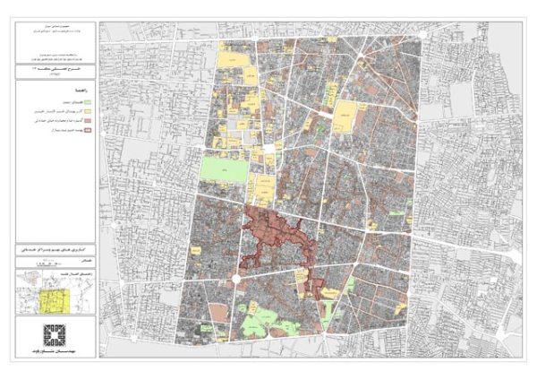 نقشه مراکز خدماتی منطقه 12