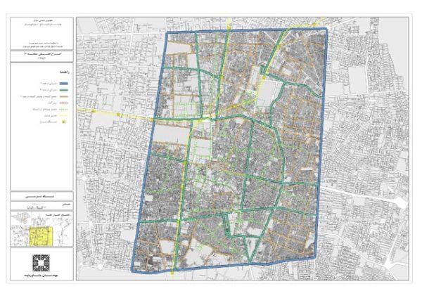 نقشه شبکه معابر منطقه 12