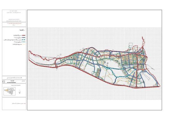 نقشه شبکه معابر منطقه 22