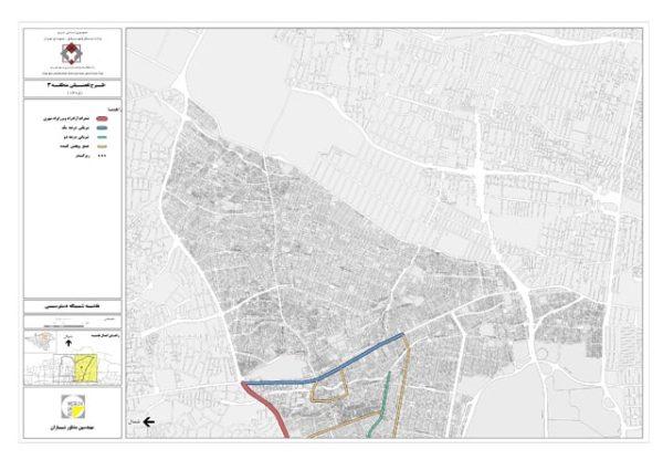 نقشه شبکه معابر منطقه 3