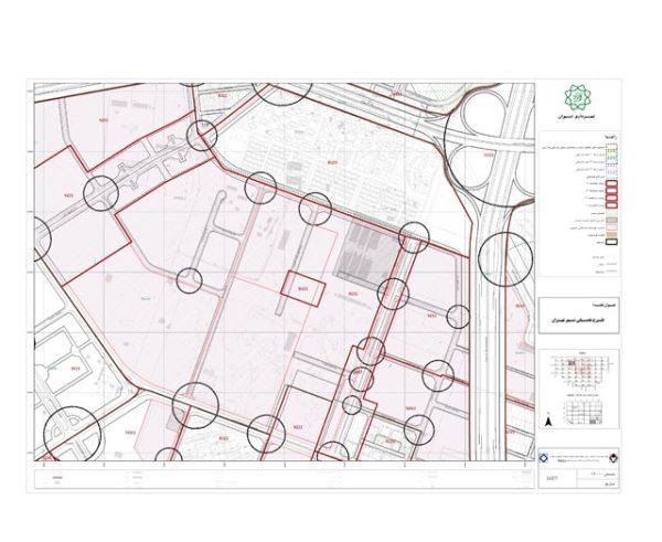 نقشه طرح تفصیلی منطقه 22