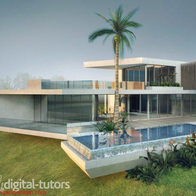 آموزش کامل طراحی یک خانه در 3Ds max