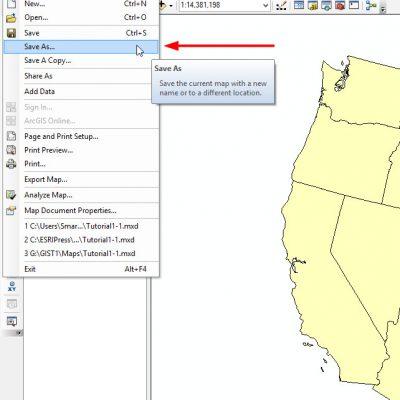 ذخیره نمودن سند در GIS