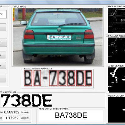 تشخیص پلاک خودرو با استفاده از متلب