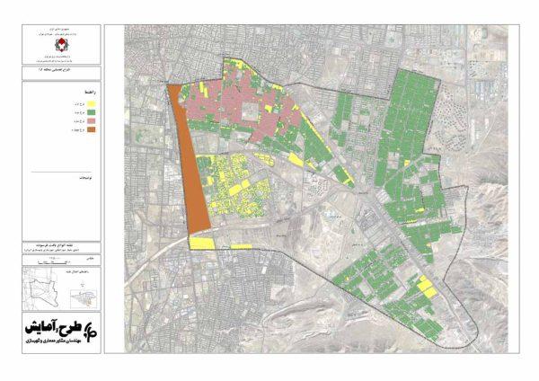 نقشه GIS انواع بافت فرسوده منطقه 15