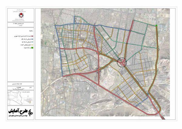 نقشه GIS شبکه معابر منطقه 15