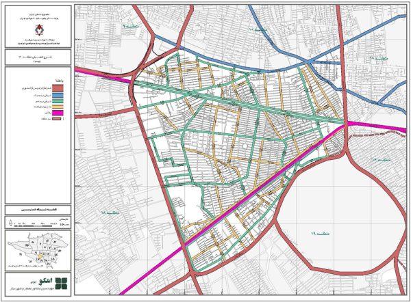 GIS شبکه معابر منطقه 17