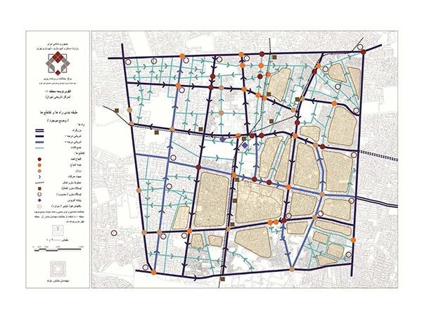 طبقه بندی راه ها و تقاطع های منطقه 12