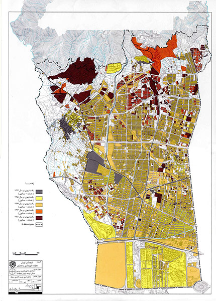 مقاطع اصلی توسعه کالبدی منطقه 5