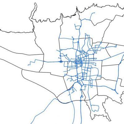 GIS خطوط تاکسیرانی تهران