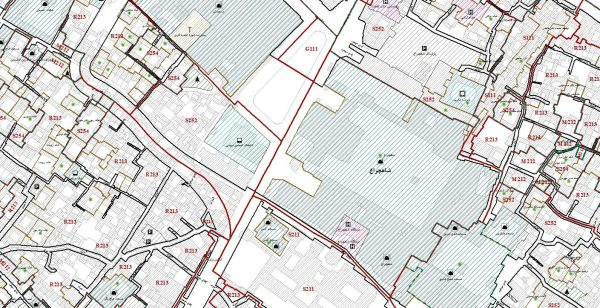 نقشه GIS منطقه ۸ شیراز