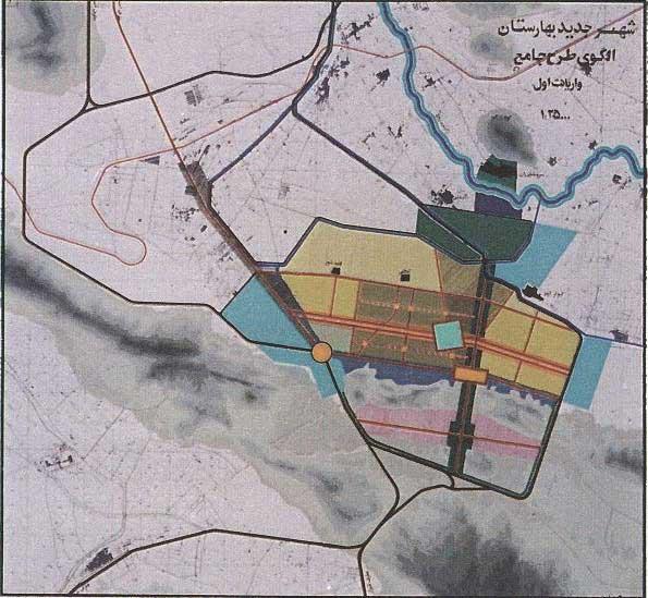 نظام استقرار اجزای شهر بهارستان