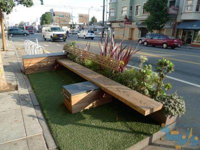 parklet در شهر سانفرانسیسکو