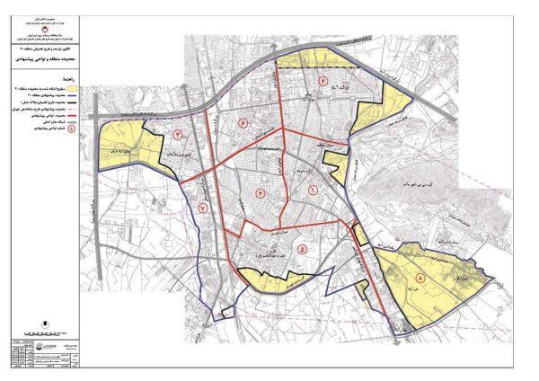 الگوی توسعه منطقه 20 تهران