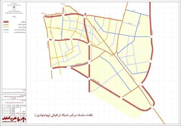 شبکه معابر پیشنهادی منطقه 15