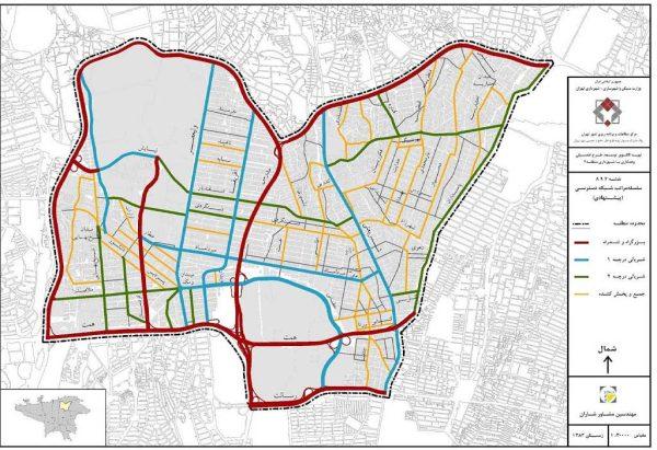 شبکه معابر پیشنهادی منطقه 3