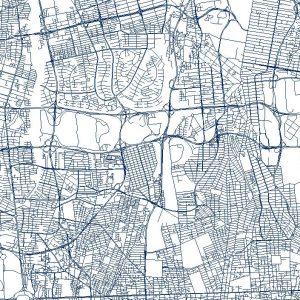 نقشه GIS معابر تهران