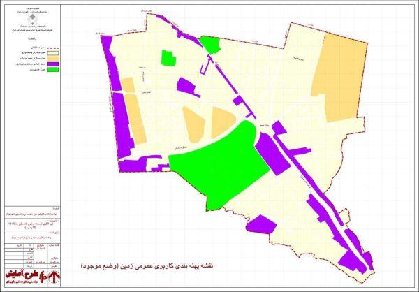 پهنه بندی موجود منطقه 15
