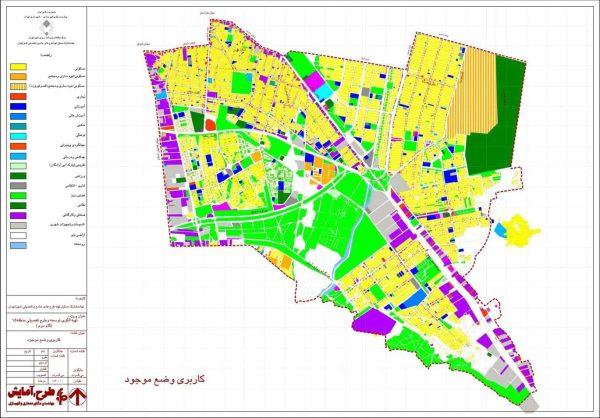کاربری اراضی موجود منطقه 15