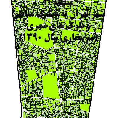 GIS بلوک های جمعیتی تهران منطقه ۱1