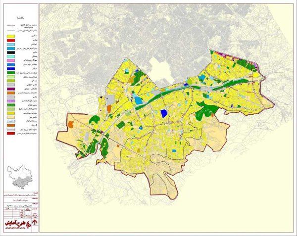 کاربری اراضی منطقه یک ارومیه