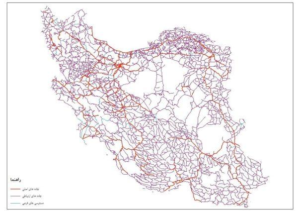 نقشه معابر ایران