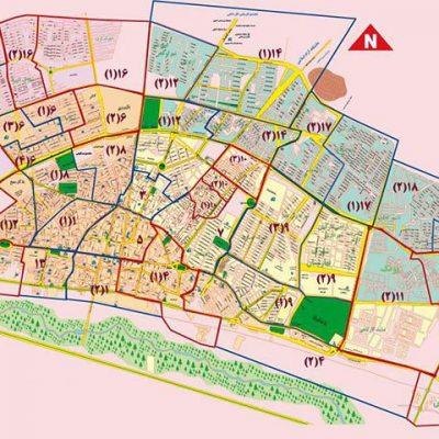 نقشه GIS شهر زنجان