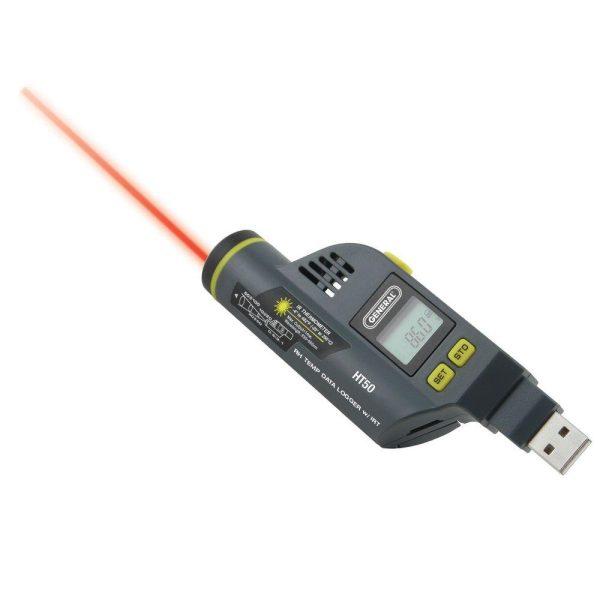 دیتالاگر دما و رطوبت و ترمومتر لیزری HT50