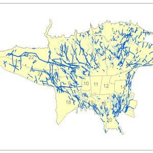 نقشه GIS قنات های تهران