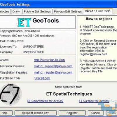 پلاگین ET GeoTools