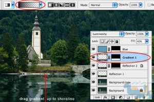 آموزش انعکاس تصویر در فتوشاپ