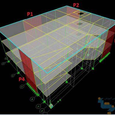 آموزش طراحی دیوارهای برشی در ETABS