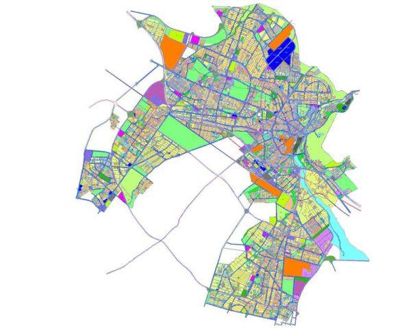 نقشه اتوکد طرح تفصیلی کرج