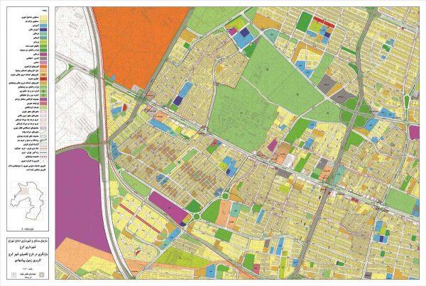 نقشه کاربری اراضی پیشنهادی کرج